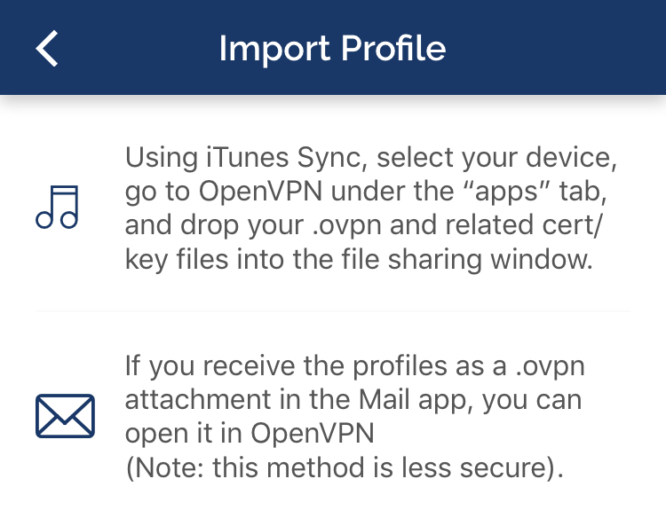 How to configure iOS OpenVPN client with certificate