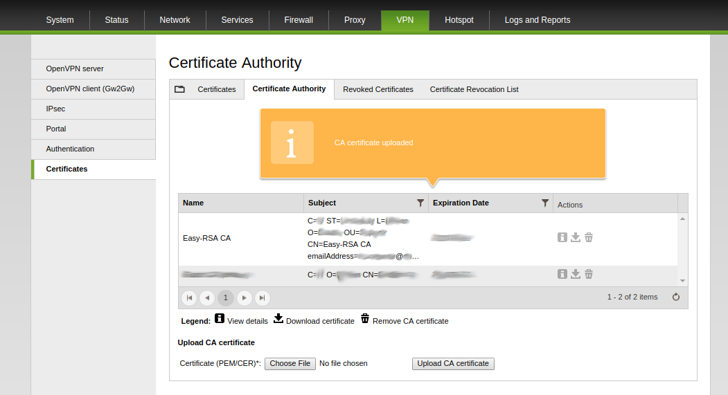 How To Generate And Import Ca Server And Client Certificates From