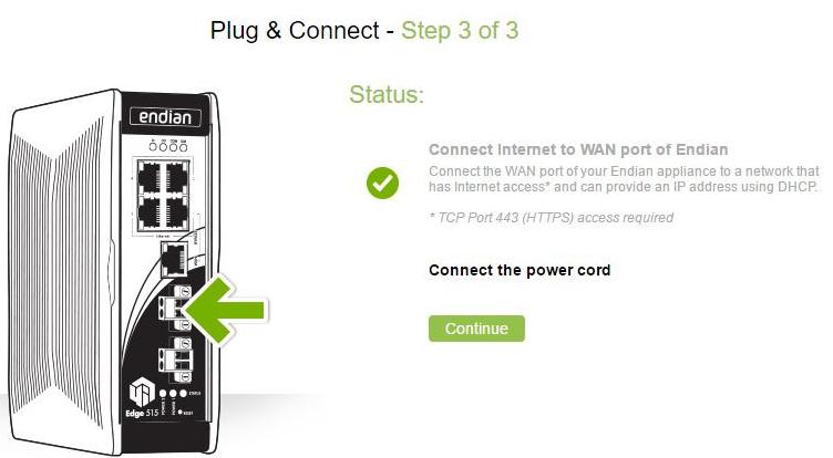The Plug and Connect (Autoregistration) Procedure – Endian