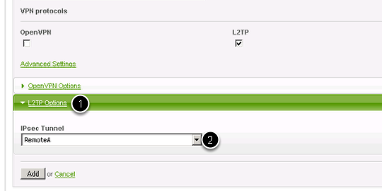 Setup of a VPN with IPsec and an L2TP tunnel – Endian